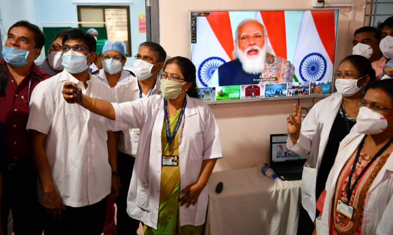 india rolls out worlds largest covid 19 vaccination campaign