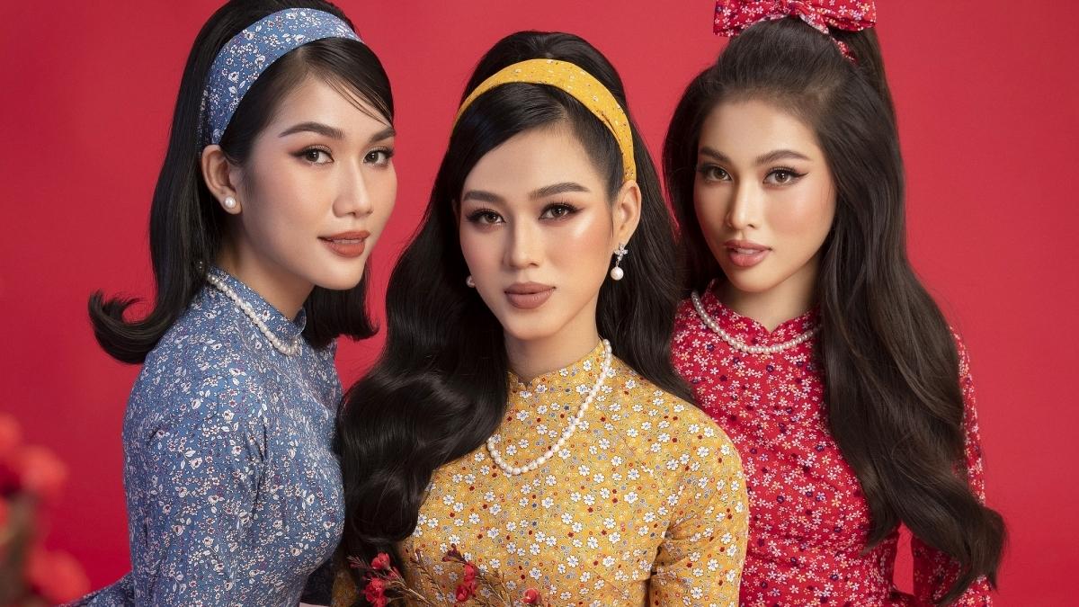 Top 3 Miss Vietnam 2020 show off beauty in Tet photoshoots
