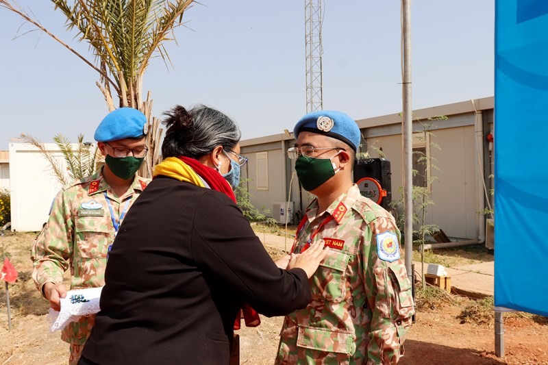 vietnams field hospital in south sudan awarded un peacekeeping medals