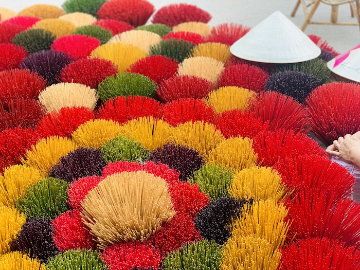 hues traditional craft villages turn colorful as tet approaches