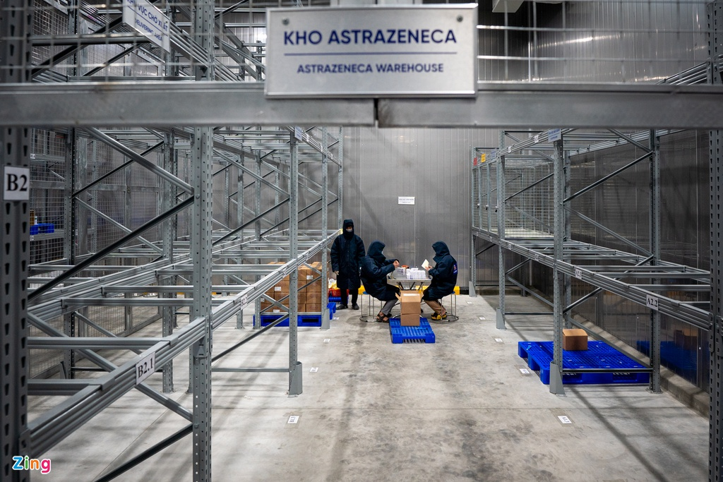 a close look at astrazeneca covid 19 vaccine at cold storages in hcmc