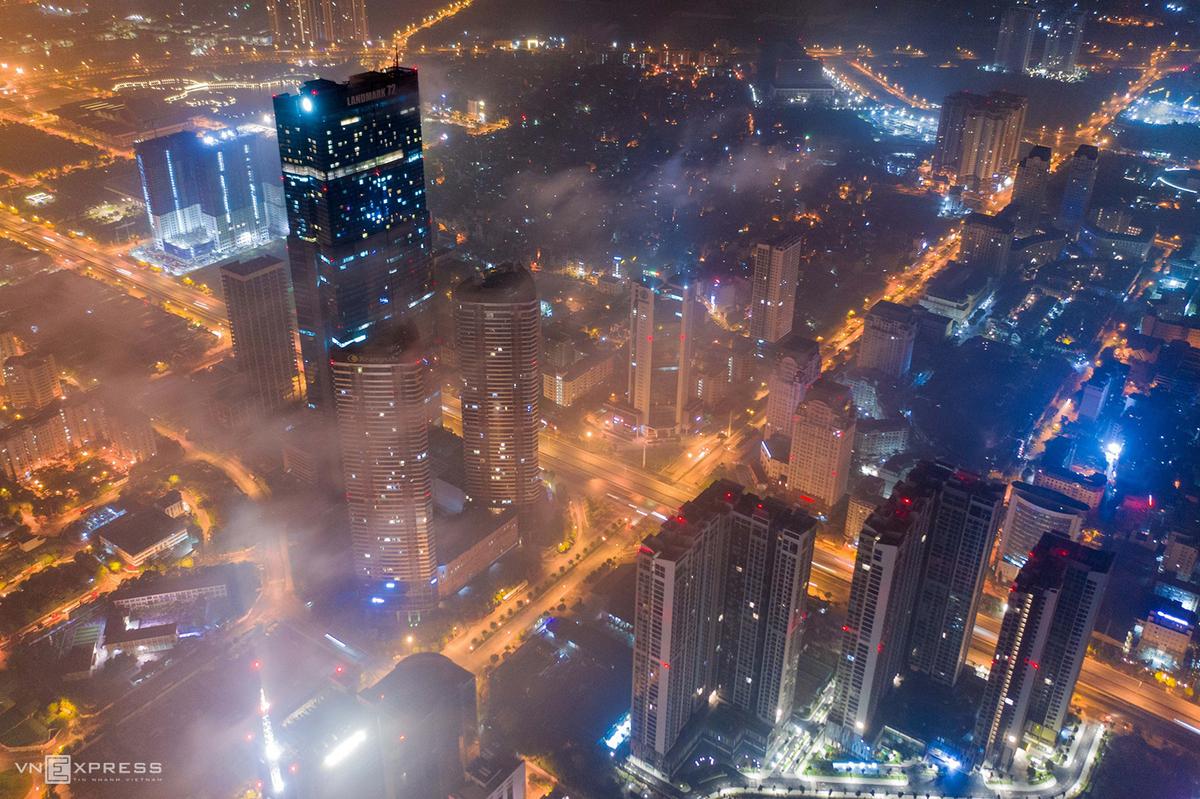 Vietnam's capital city boasts a resplendent beauty at night