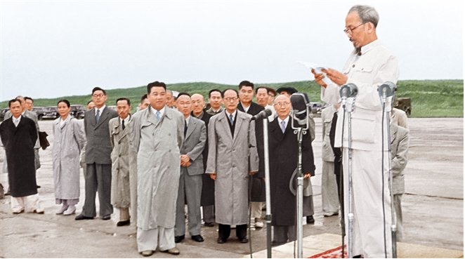 Rare photos of President Ho Chi Minh and DPRK President Kim Il-sung