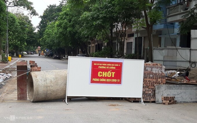 Over 100 Covid-19 checkpoints set up in Bac Ninh city