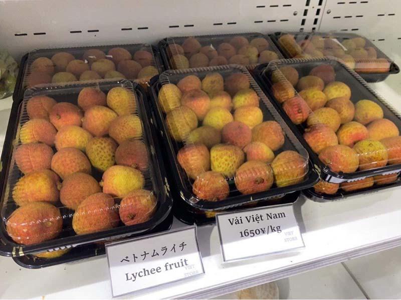 Vietnamese lychees hit shelves at supermarkets in Japan