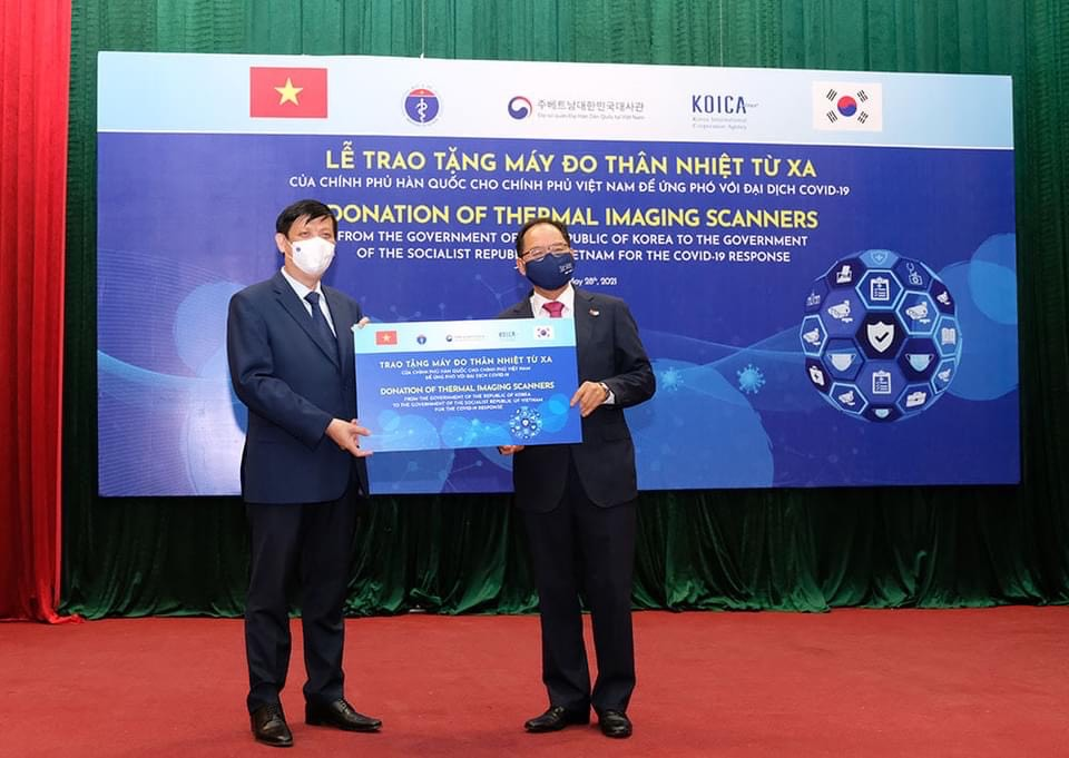 South Korea supports Vietnam 40 thermal imaging scanners
