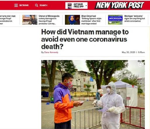 the new york post praises vietnams achievement in the combat against covid 19