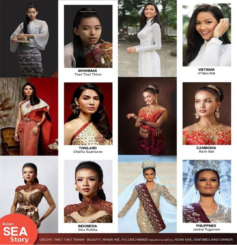 hhen nie listed among top 20 most beauties in national costumes in southeast asia