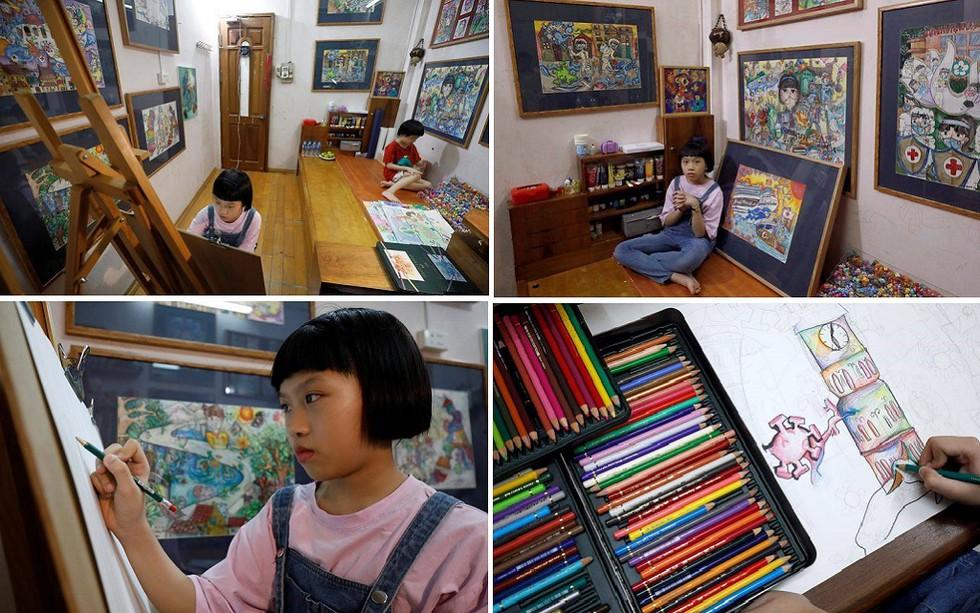 coronavirus themed paintings by vietnamese girl praised by intl media