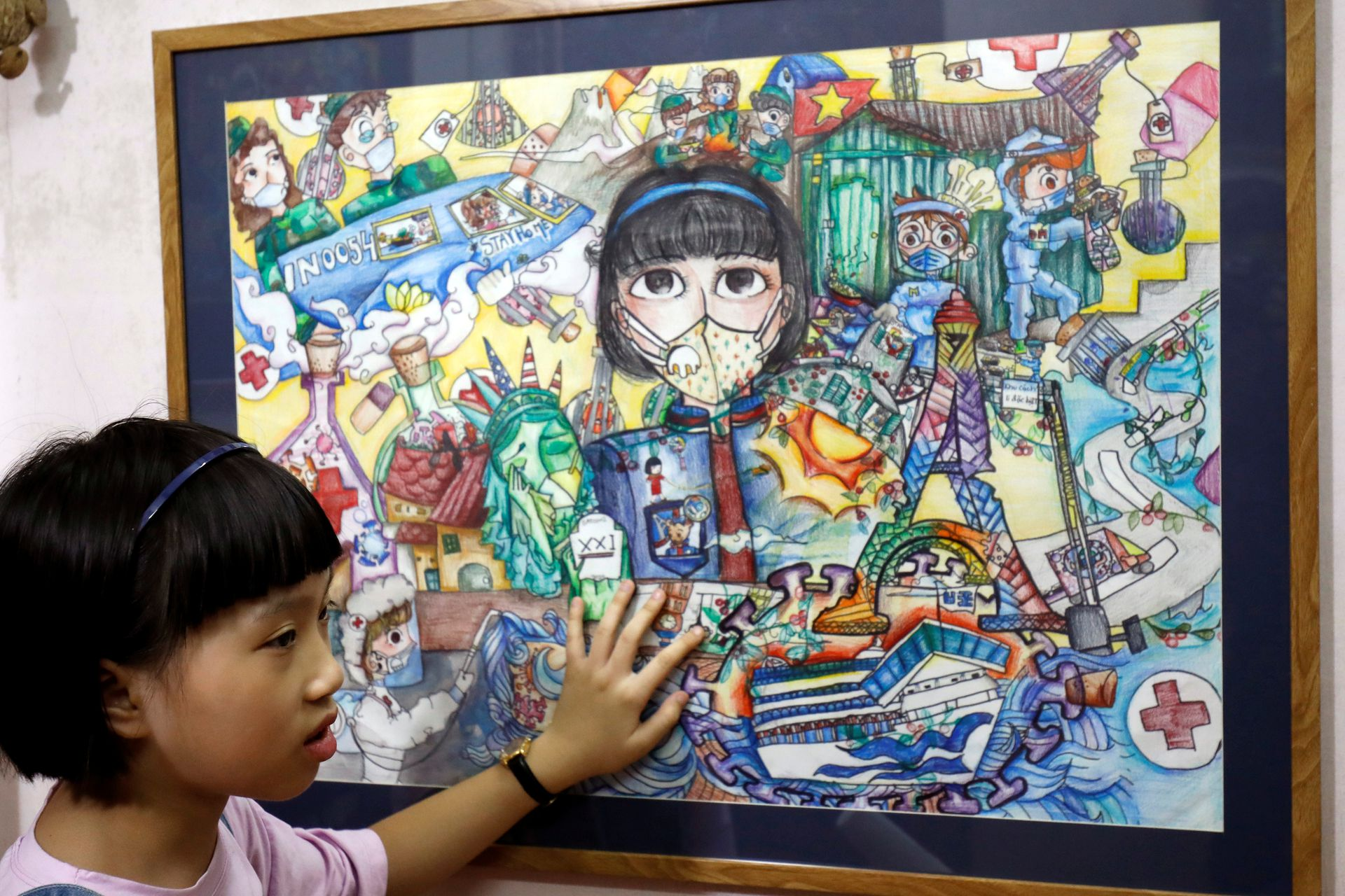 coronavirus themed paintings by vietnamese girl praised intl media