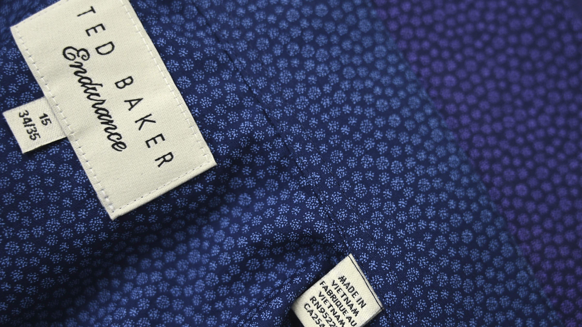 A Ted Baker brand shirt at a factory in Hanoi