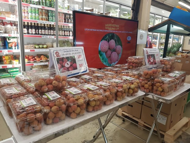 First Vietnamese lychee batch with traceability stamp sold in France