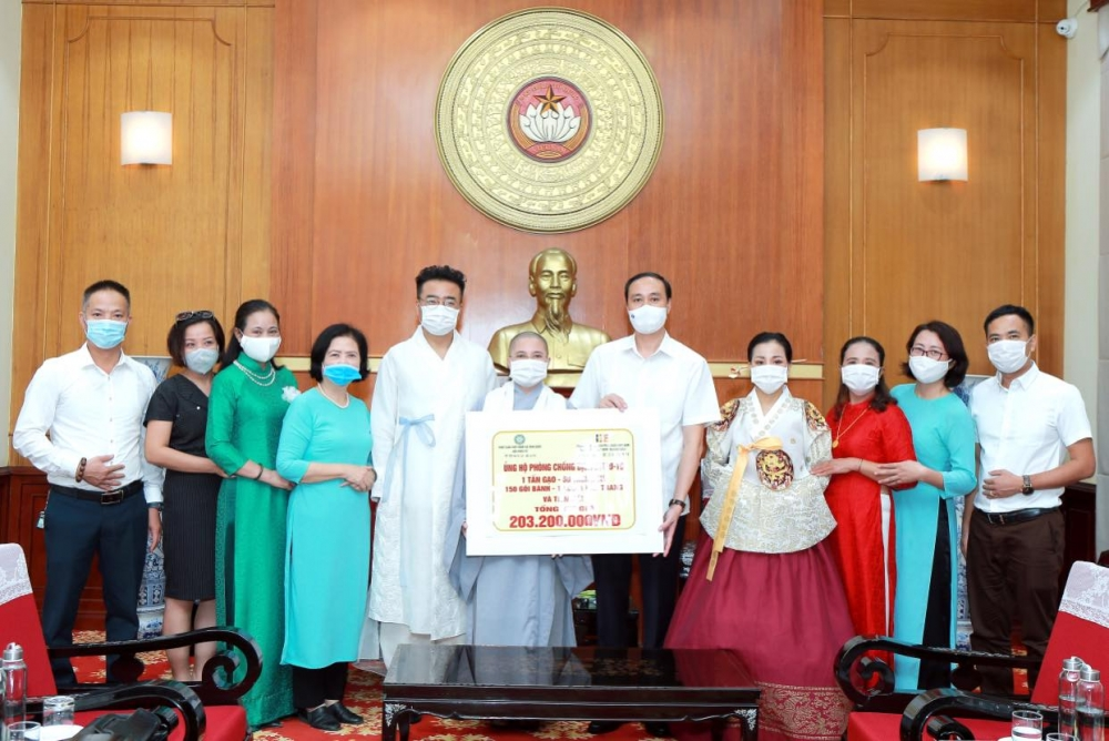 Vietnamese Buddhists in South Korea contributes to Covid-19 vaccine fund