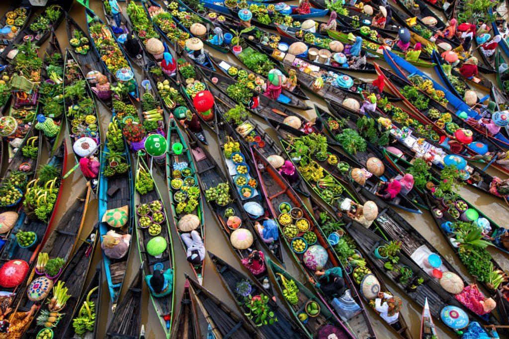 Water lily harvest shot by Vietnamese photographer wins international prize