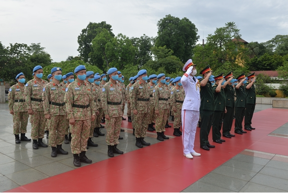 UN Peacekeepers stationed in South Sudan pay tribute to President Ho Chi Minh