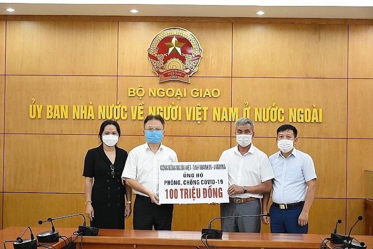 Overseas Vietnamese in Ukraine, Switzerland helps domestic citizens with donations