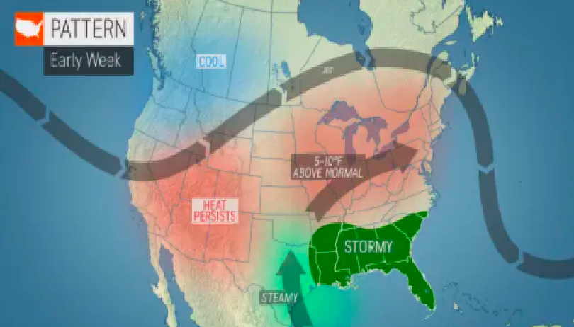 us canada weather forecast july 6 another heatwave of summer for monday in the us