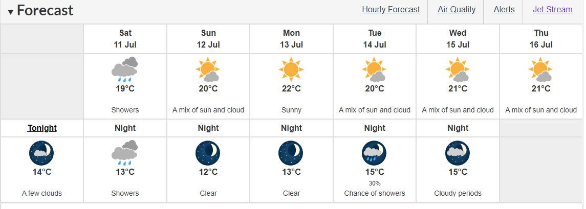 us and canada weather forecast today july 11 rare heatwave this weekend