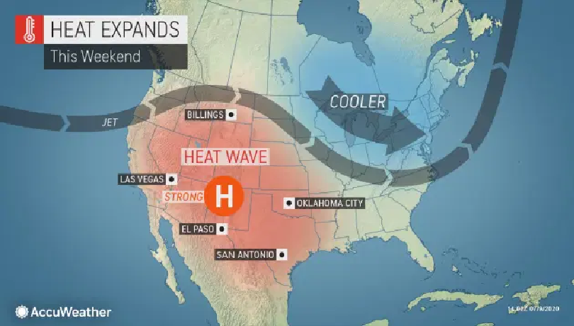 US and Canada weather forecast today, July 11: Rare heatwave this weekend