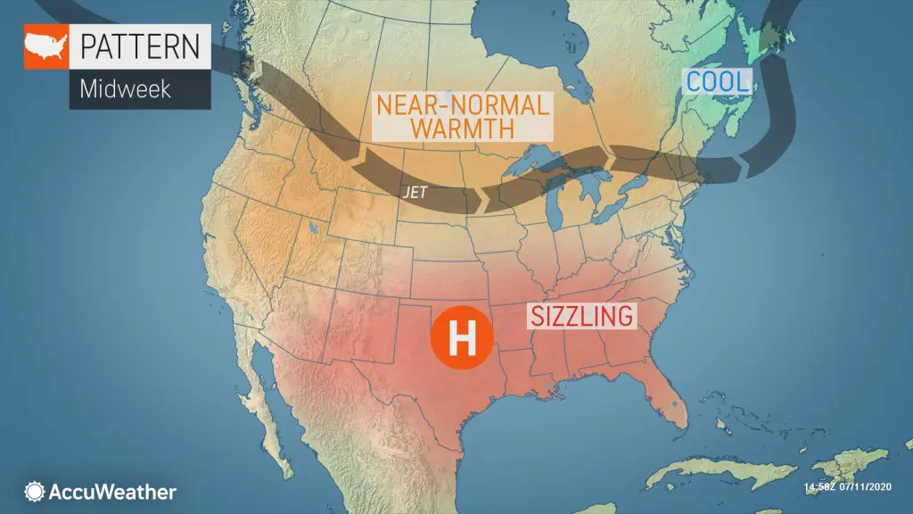 us and canada weather forecast july 12 scorching heat spread large parts of the southern us this weekend
