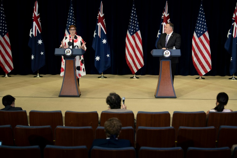 us australia strengthen military cooperation to face china