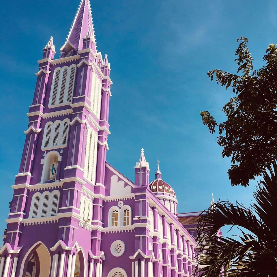 enthralling pink and purple cathedrals in vietnams central province