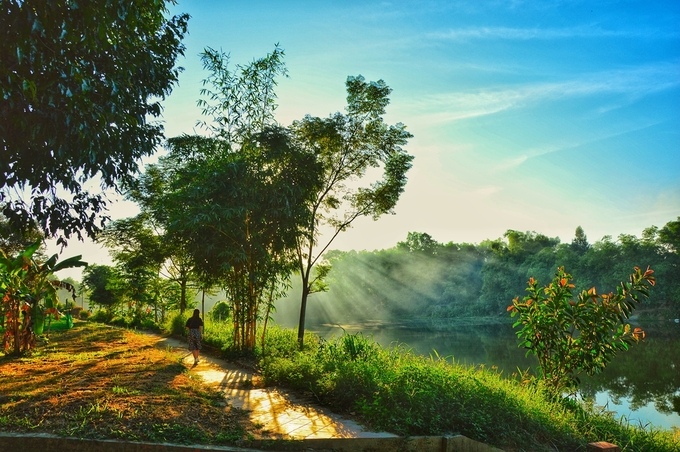 a glimpse of tranquil ancient village in central vietnam