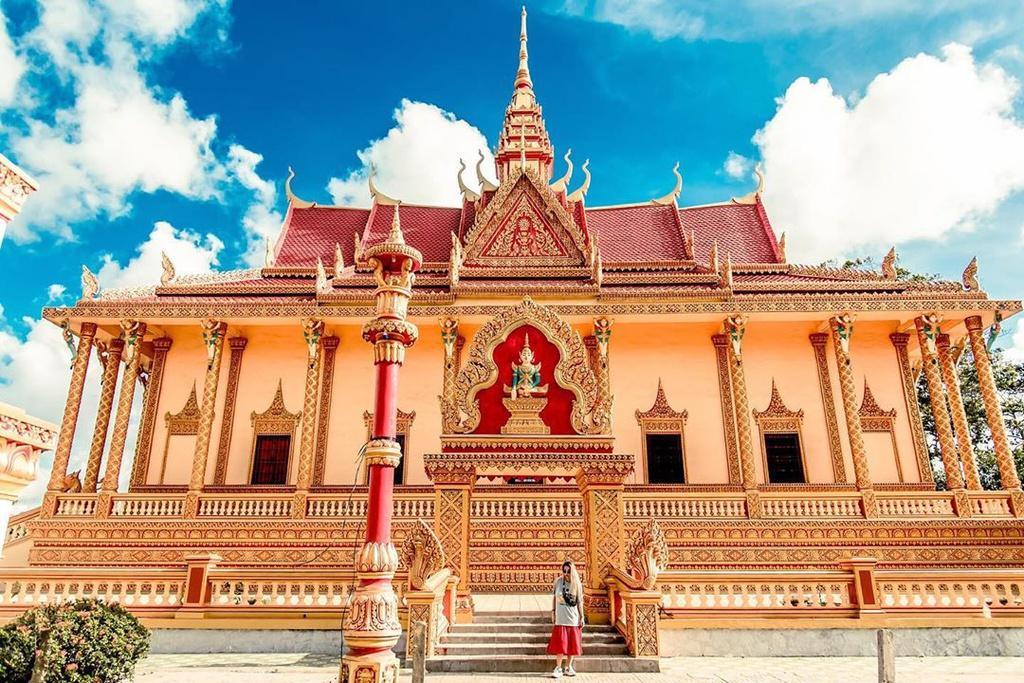 centenarian solemn khmer pagodas in western vietnam
