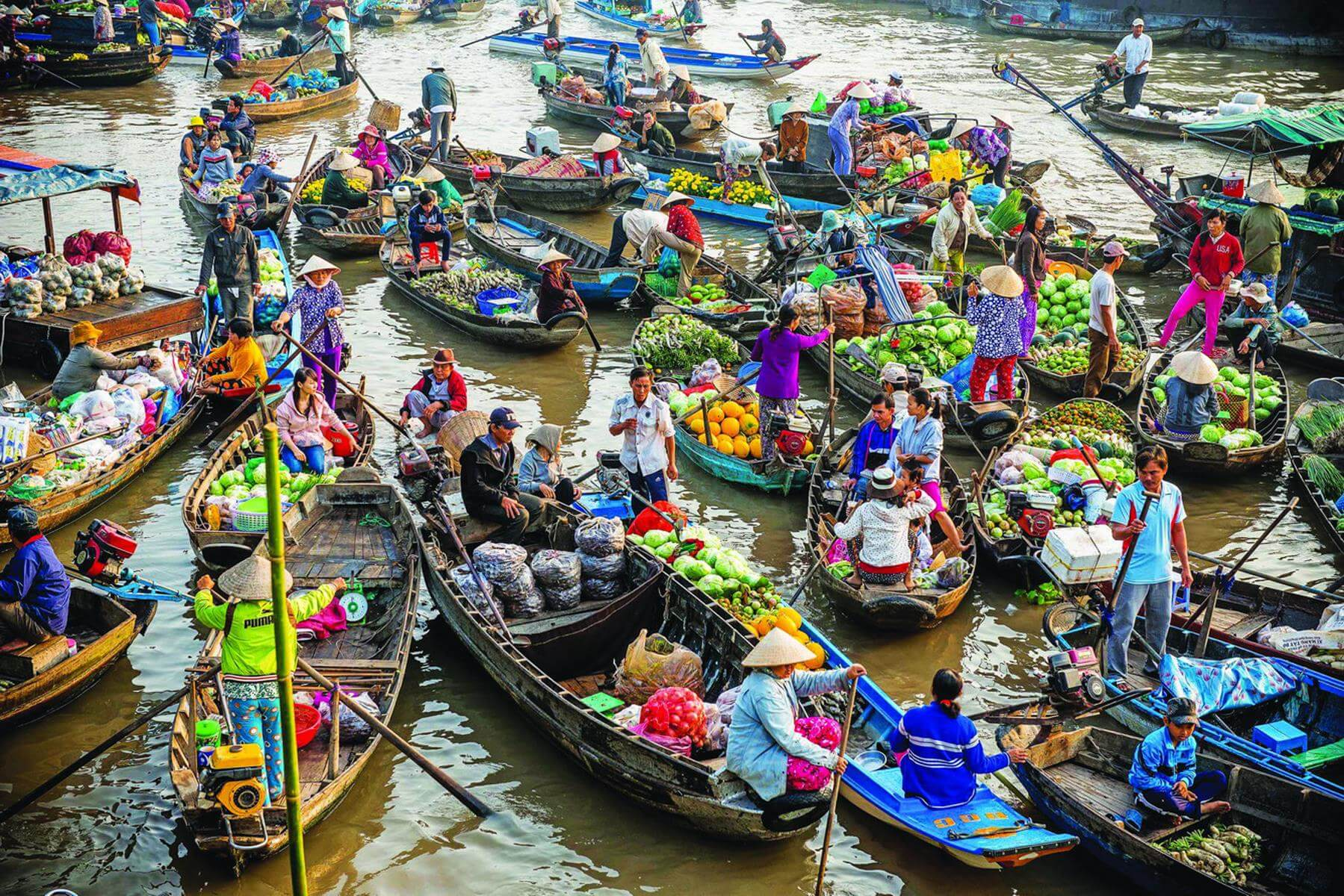 Floating markets, exceptional cultural features of Vietnam's Mekong Delta