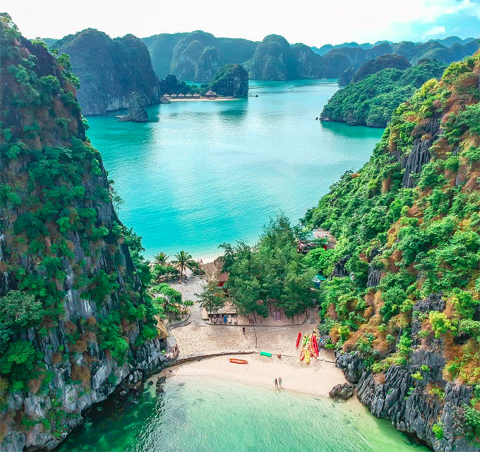 uncharted island with one shoal two coastlines in northern vietnam