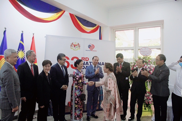 ambassadors attended the 63rd anniversary of malaysias national day in hanoi
