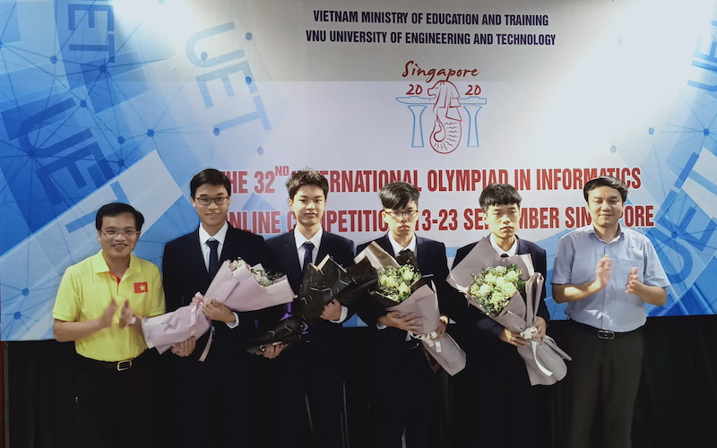 Vietnamese students win gold medal at International Informatics Olympiad 2020