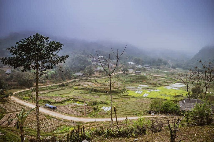 exploring valley of clouds in northern vietnam