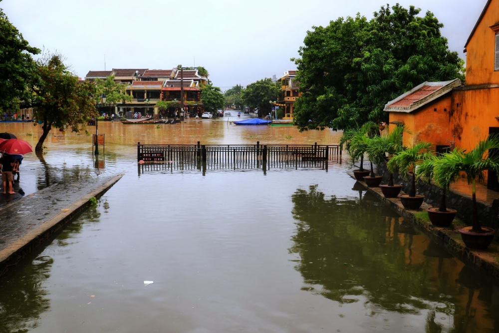 hoi an ancient town inundated by severe flooding