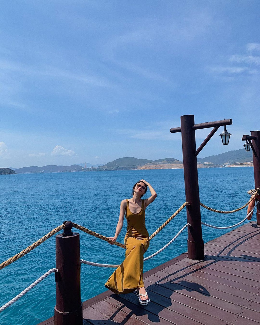 alluring wooden bridges amidst blue sea in vietnams famous tourism hub