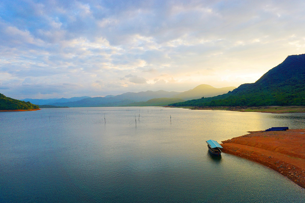 Immersing in the serene beauty of Nui Mot Lake