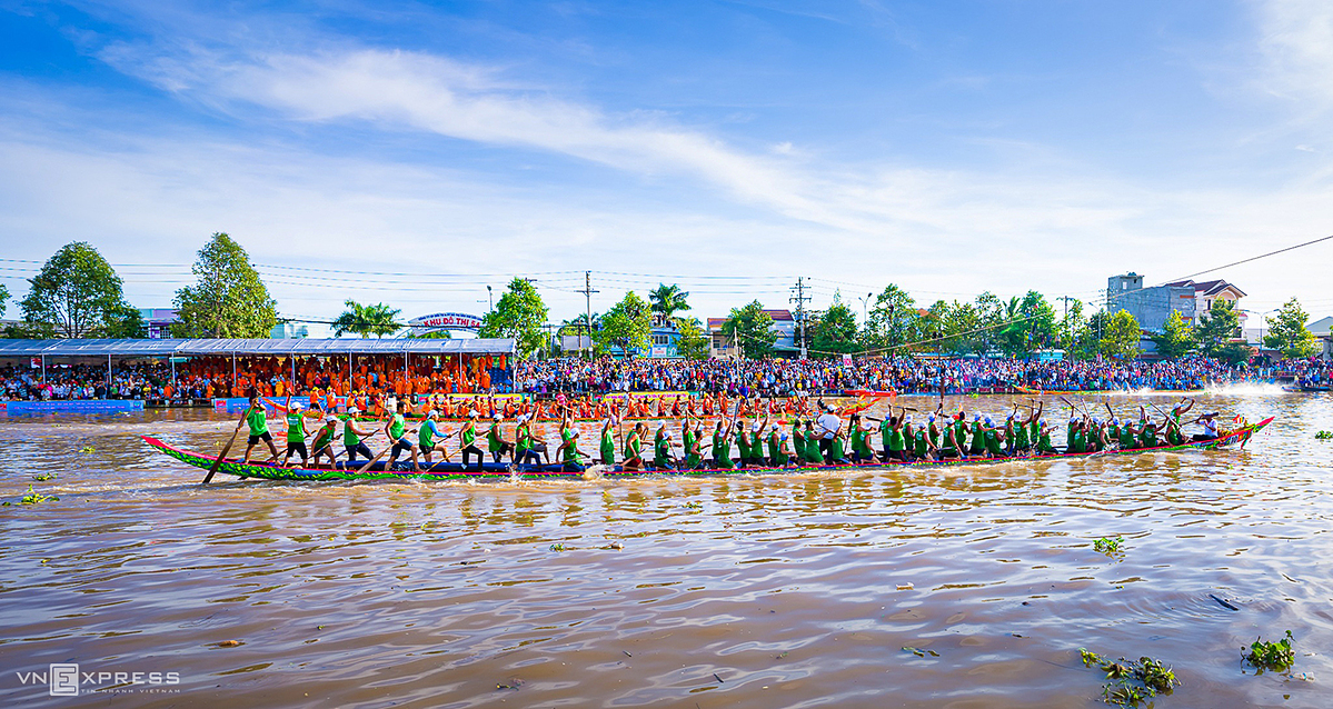 Boat-racing festival, a traditional cultural feature of Mekong Delta