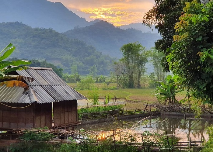 picturesque beauty of pom coong village in northern vietnam