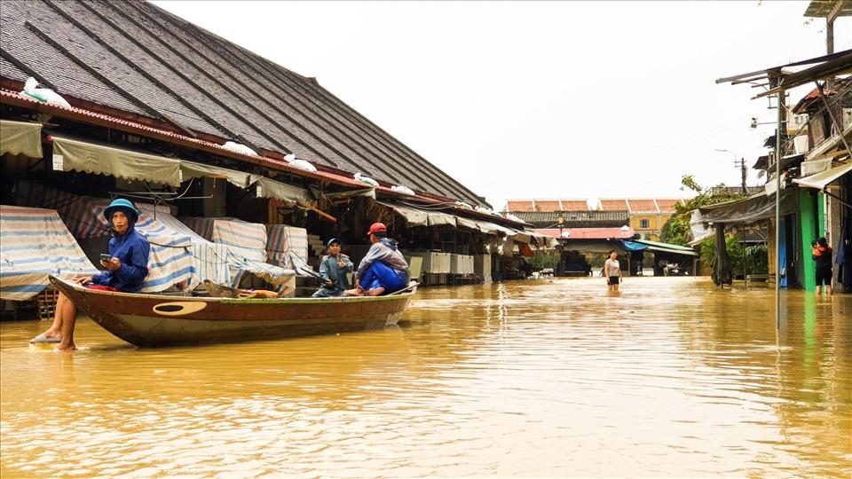 Hoi An Ancient Town flooded again after storm Etau