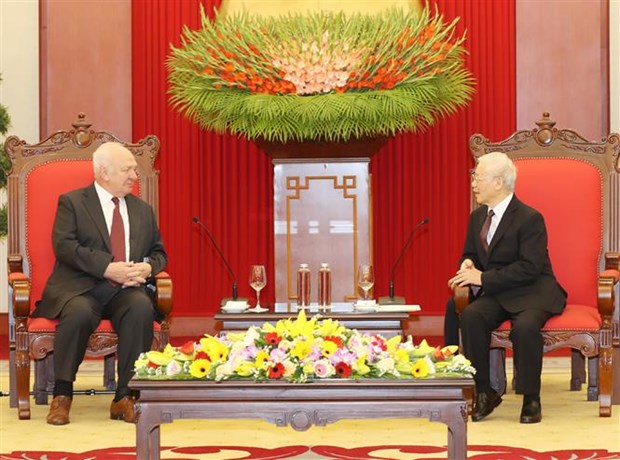 vietnam always treasures relations with russia top leader