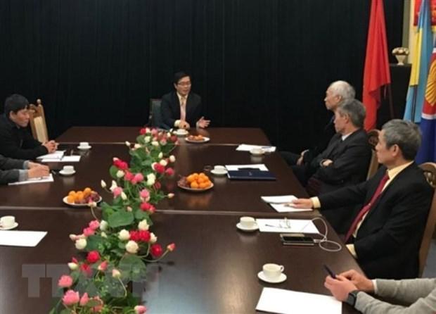 the ambassador meets vietnamese community in ukraine