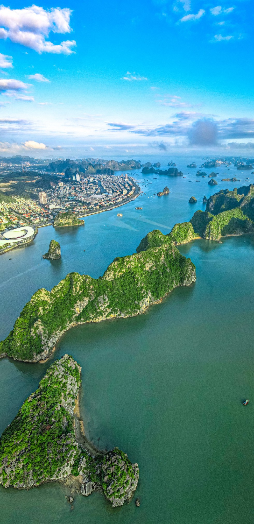 In photos: An aerial view of Ha Long Bay on a winter morning