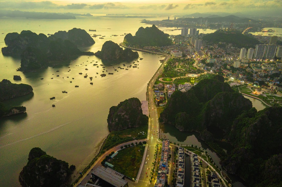 in photos an aerial view of ha long bay on a winter morning