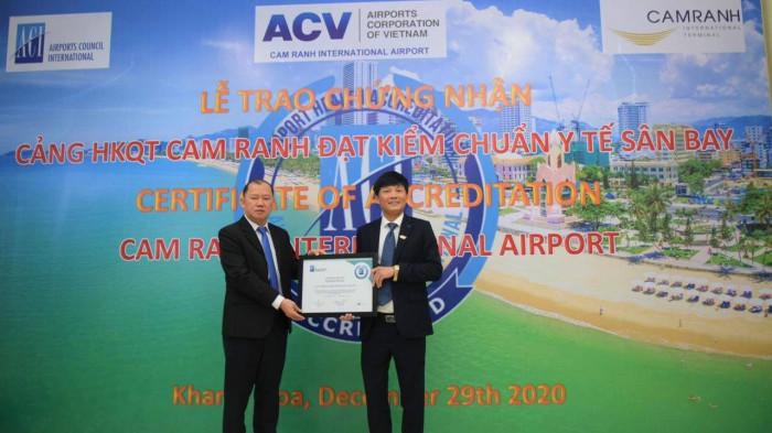 cam ranh international airport granted airport health accreditation