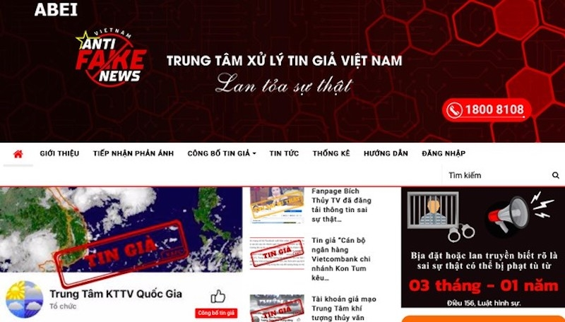 vietnam launches anti fake news center for the first time