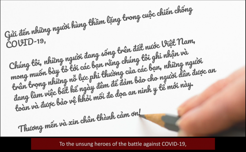 who vietnam delivers thank you video to unsung heroes in covid 19 combat