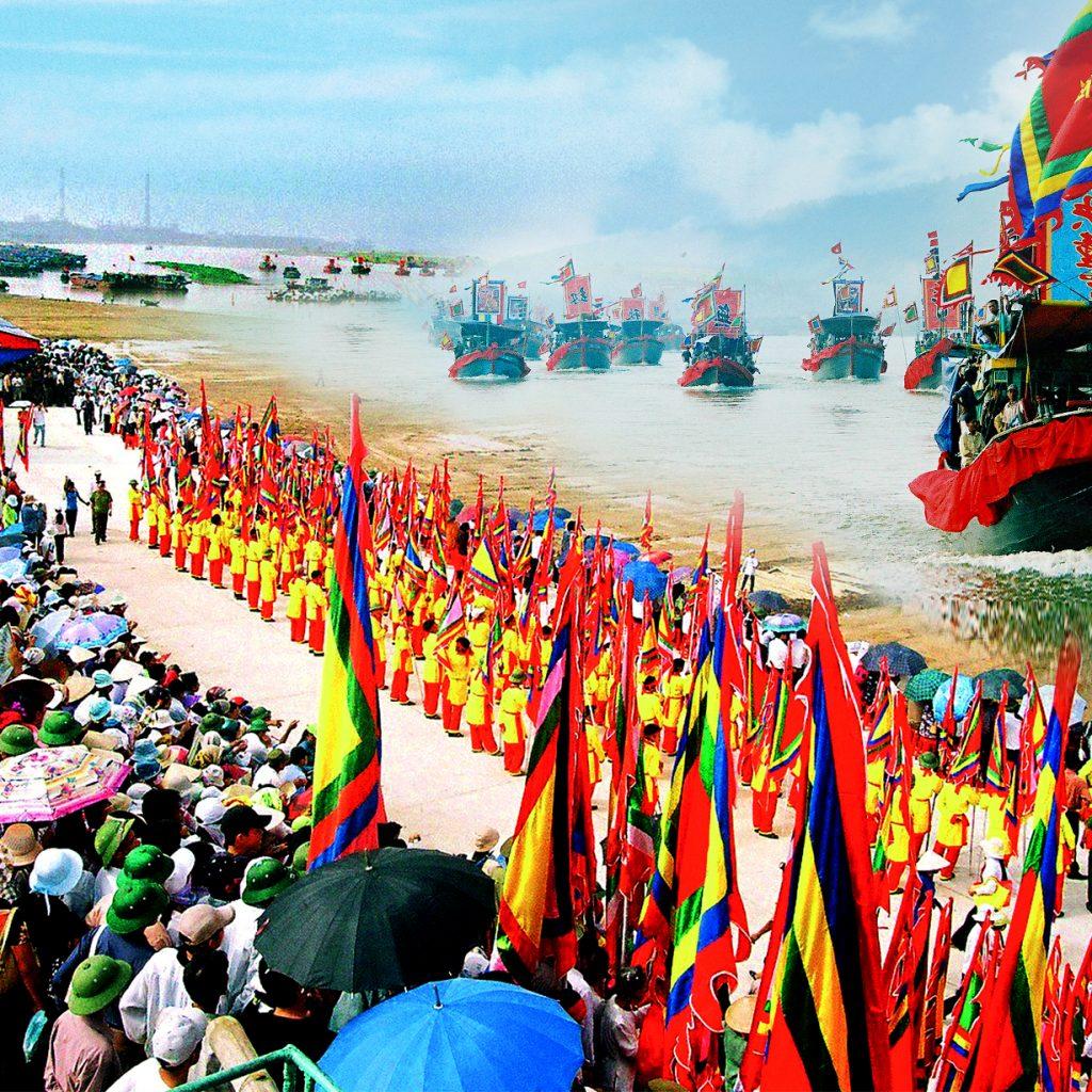 impressive ca mau during traditional festival of praising sir whale