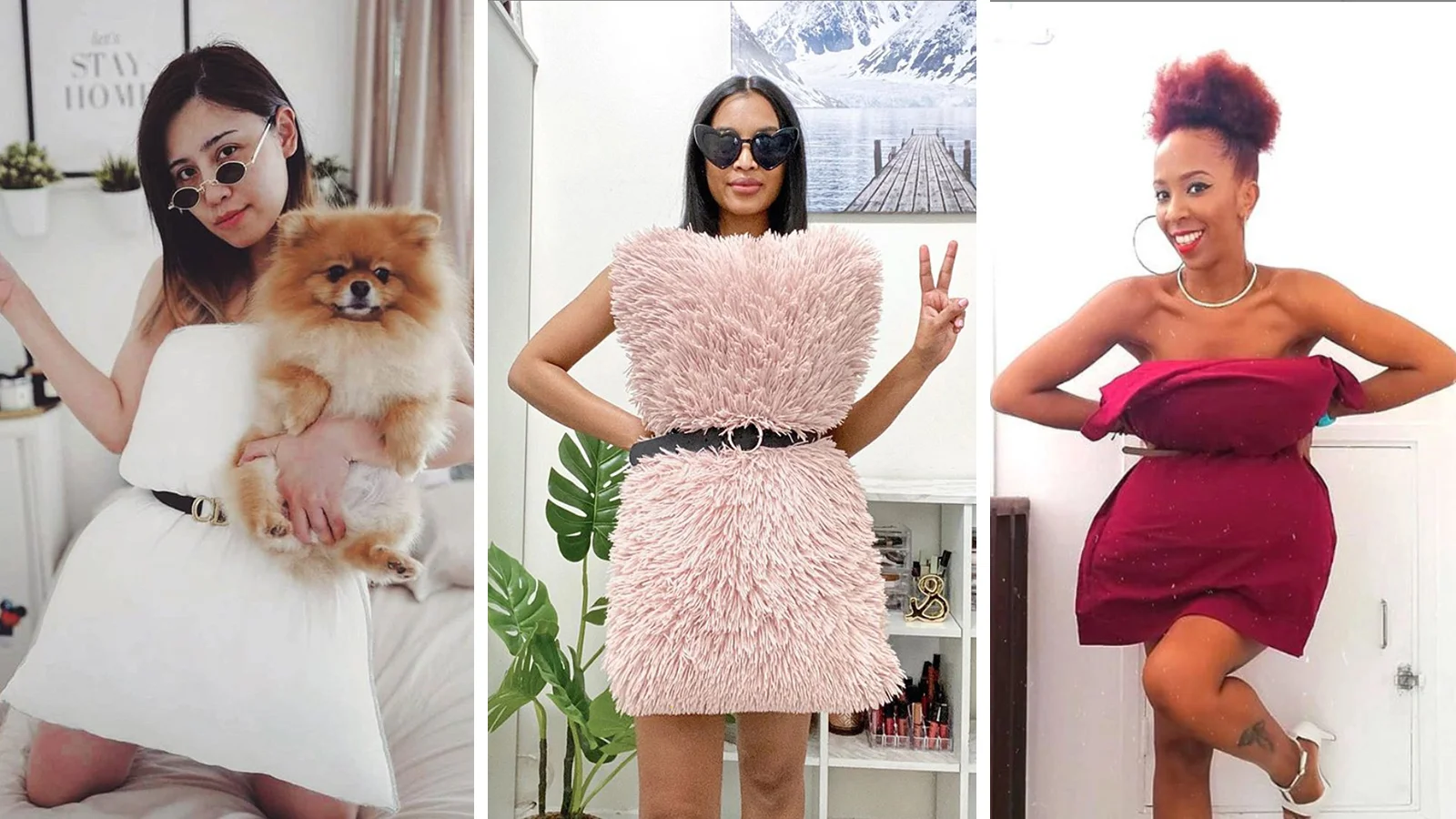 vietnamese and world fashionistas swing social media with pillow challenge quarantined trend