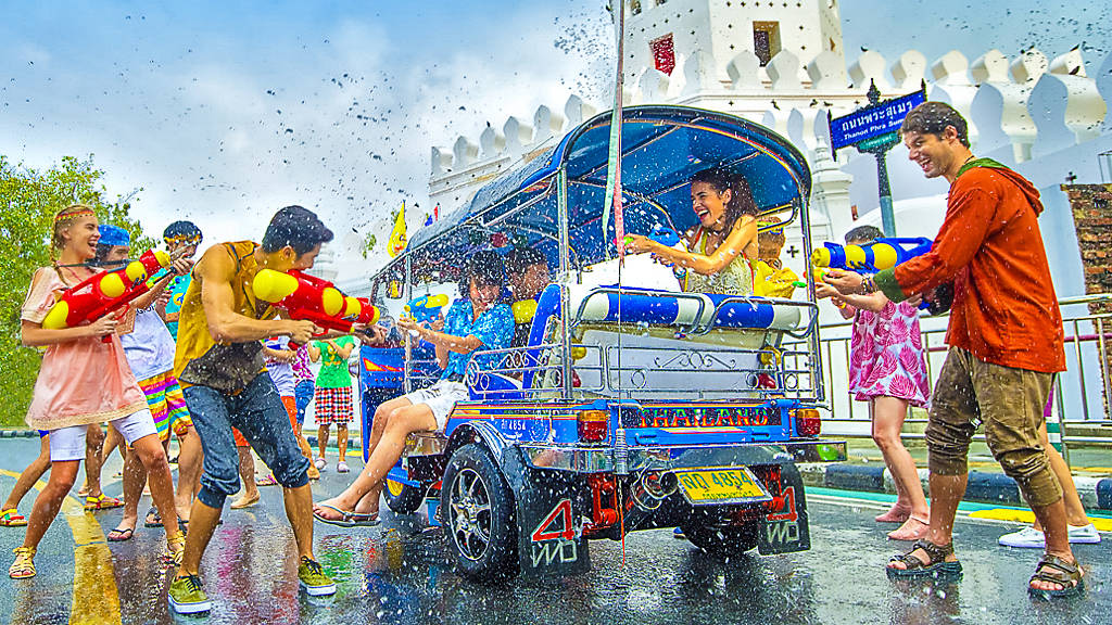 worlds largest water fight festival in thailand tamed due to coronavirus