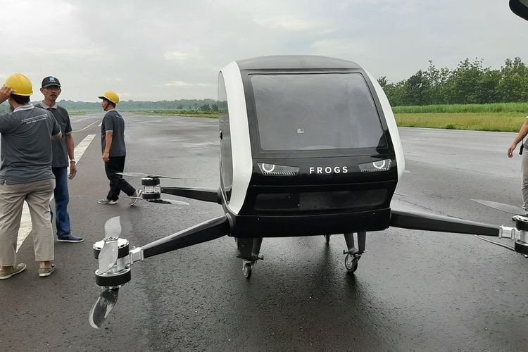 first indonesias electric taxi drone takes test flight